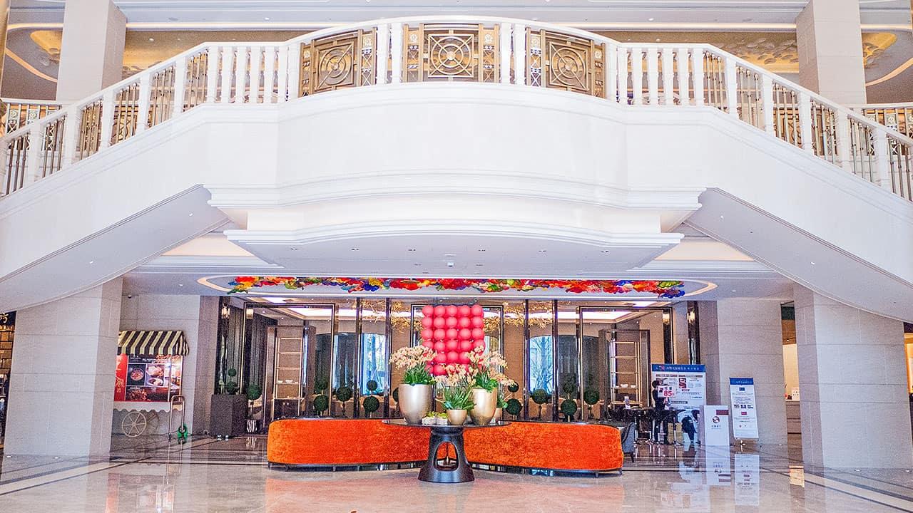 台北美福飯店上班族下班副業賺錢美福飯店大廳梯子
